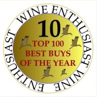 TEN times in the Wine Enthusiast list of the 100 TOP BEST BUYS of the YEAR