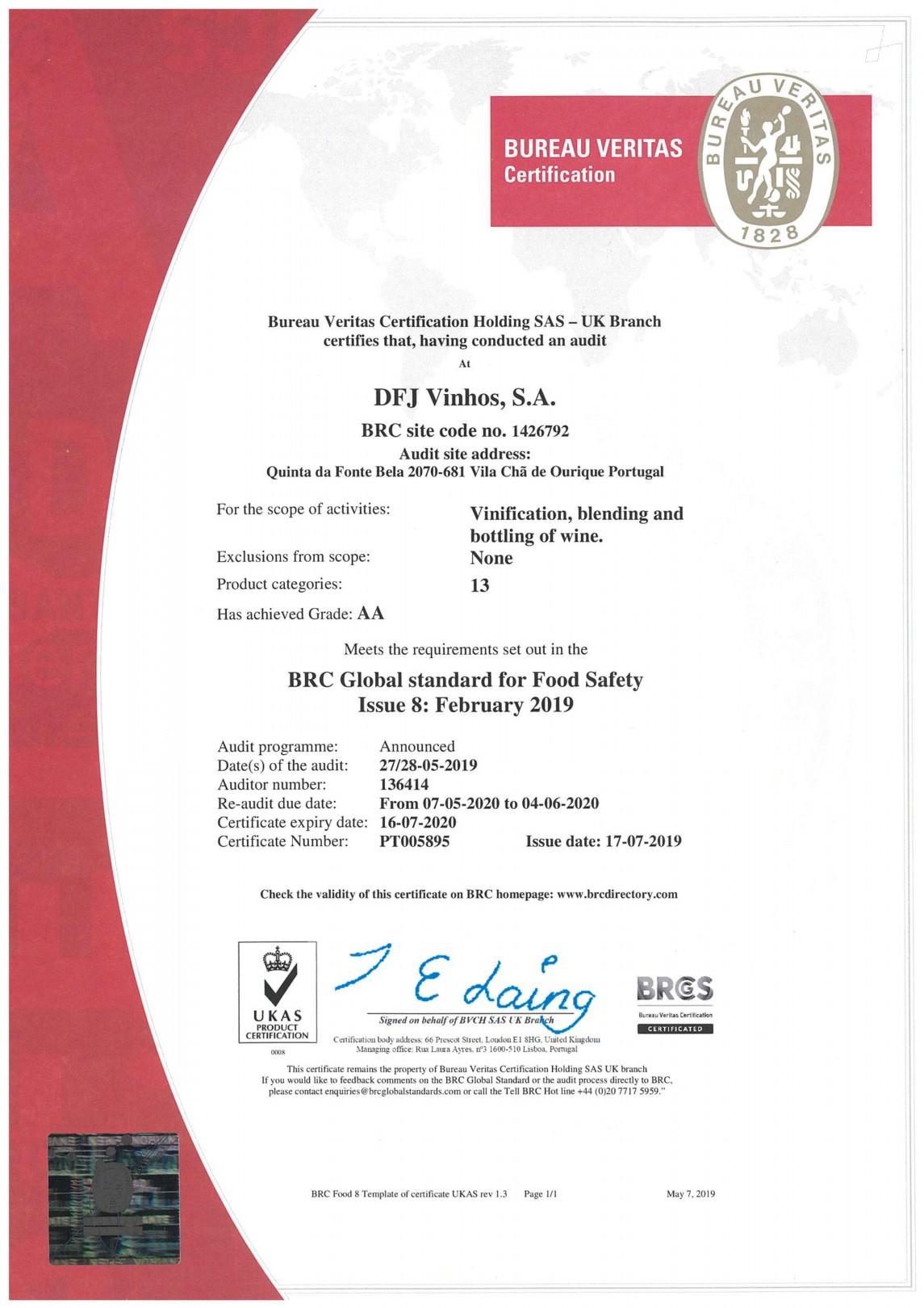 brc certificate certification dfj vinhos pdf 4kb dfjvinhos