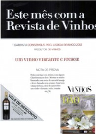 CONSENSUS Lisboa white wine 2012 exclusive release on REVISTA DE VINHOS