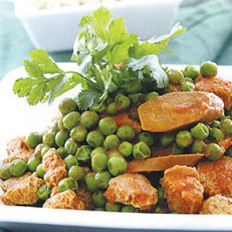 Peas stewed with soy