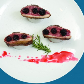DUCK BREAST WITH BLACKBERRY SAUCE