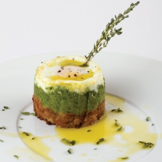ALHEIRA* WITH BROCCOLI AND QUAIL EGGS