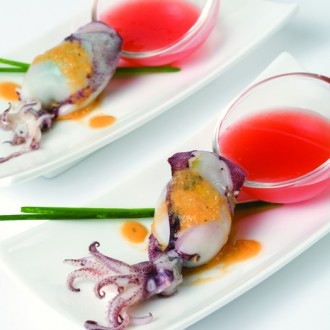 STUFFED SQUID WITH GAZPACHO