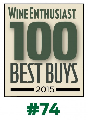 logo Wine Enthusiast certificate_TOP 100 BEST BUY 2015_#74 copy