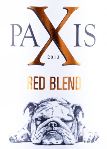 PAXIS Bulldog red wine 2013_rec_label_tsp