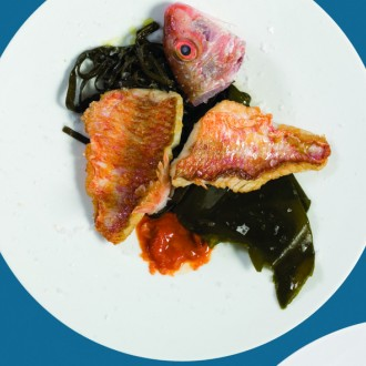 RED MULLET WITH SEAWEED AND SEA-URCHIN PURÉE