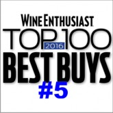 NINE TIMES in the Wine Enthusiast list of the 100 TOP BEST BUYS of the YEAR