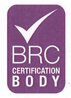 logo BRC certificate of the Quality 2012